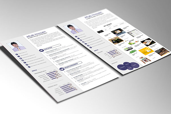 free 2 pages resume template - Resume Templates Free Pages