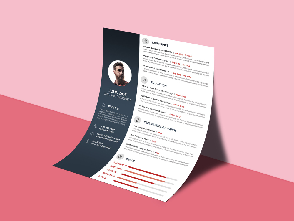 Professional cvresume free professional cvresume template for job here is a free professional cvresume template that ideal for the job seeker who wants to give a elegant impression come with minimal design yelopaper Image collections