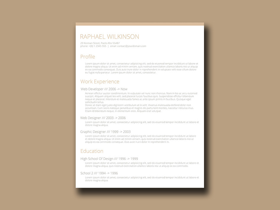 Free Crafty Resume Template with Casual Design