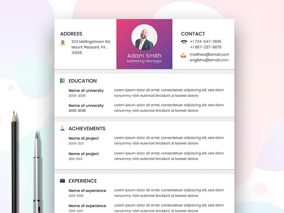 Marketer Resume Template Free marketing Manager Resume Template