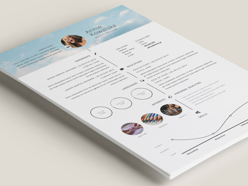 Free Timeline Illustrator Resume Template For Personal Use - Timeline resume template