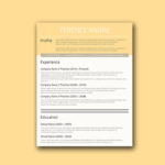 Buff Yellow Resume