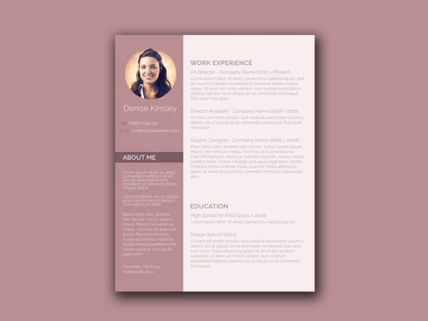 Free Word Resume Template with Chic Design