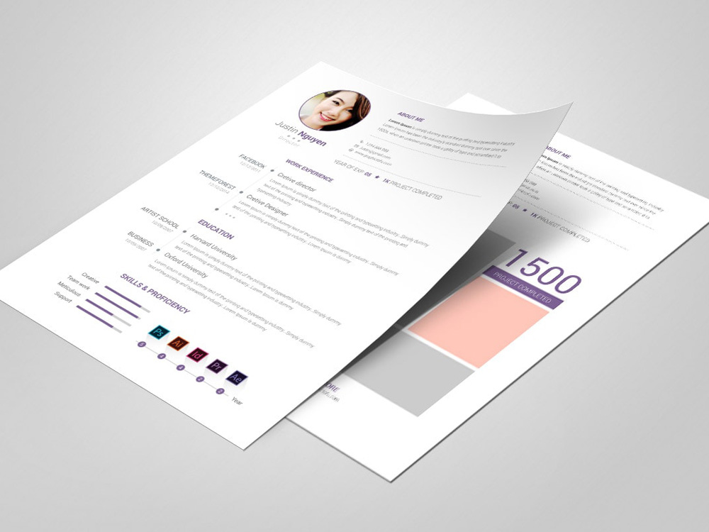 Free Clean Editable Resume Template with Fresh Design