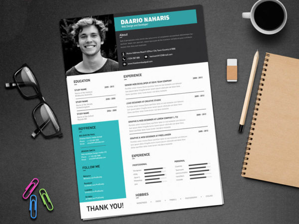 Creative Classy Resume. Here Is Free Creative Resume Template ...