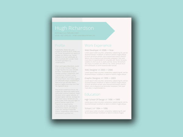Free Turquoise Resume Template with Elegant Design