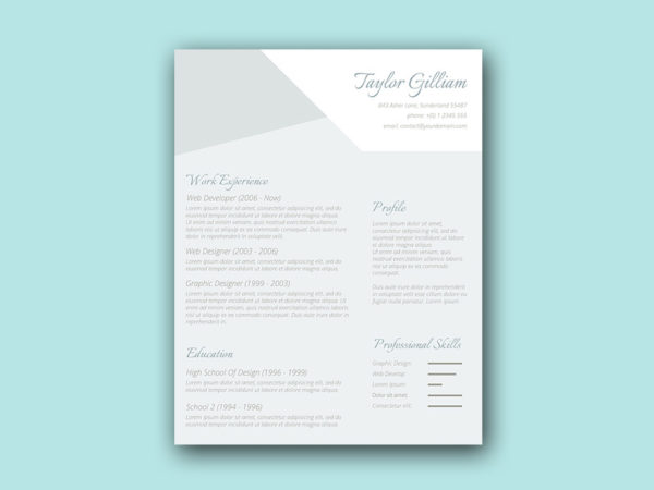 Free Elegant Resume Template with Smart Design