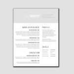 Gray and White Resume
