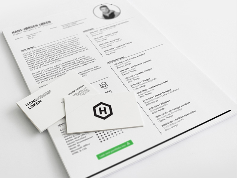 Hans Resume - Free Indesign Resume Template with Clean and Simple Design
