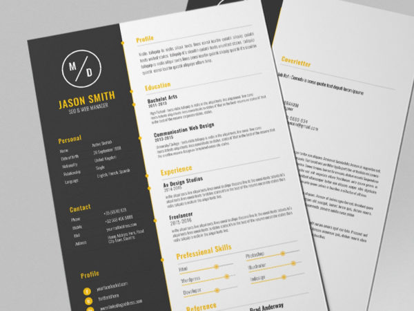 Free Modern Resume Template with Chic Design
