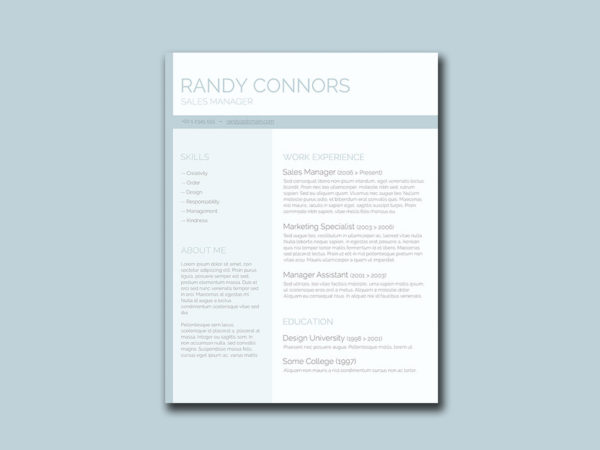 Free Pastel Resume Template with Clean Design