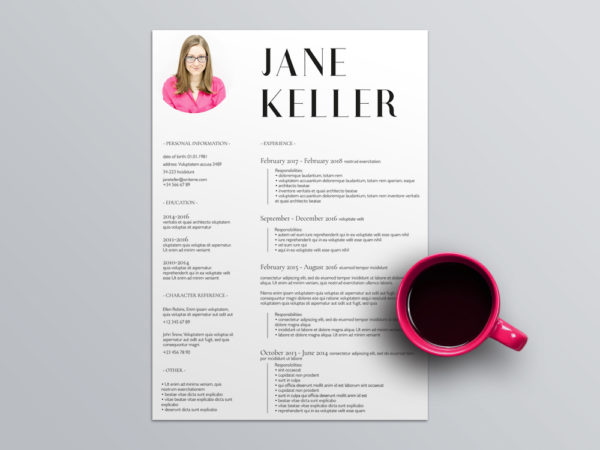 Free Super Minimalist Resume Template in Indesign Format