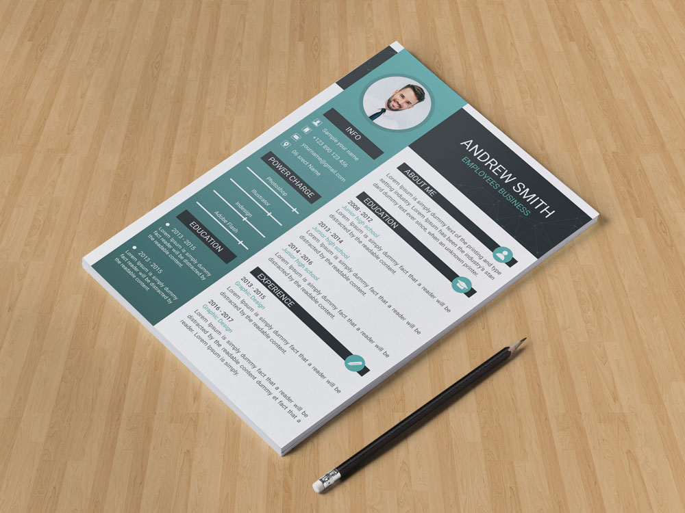 Free Elegant Resume Template with Formal Style Design