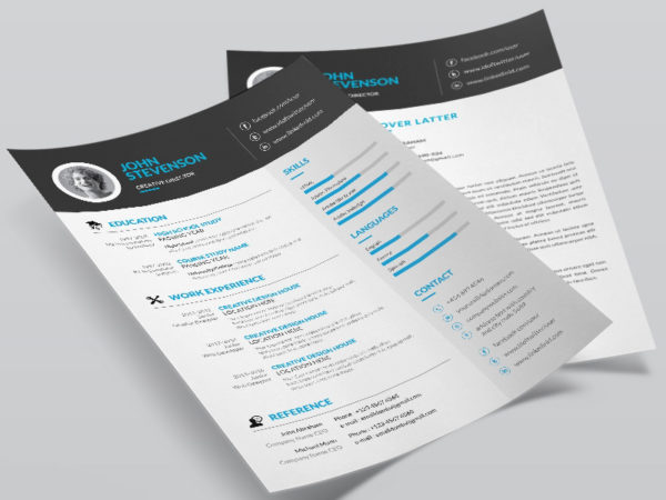 Free Creative Resume Template with Cover Letter And Portfolio Page