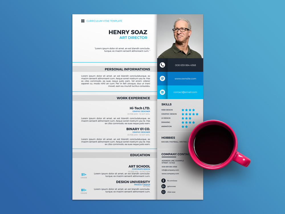 Soaz Resume - Free Modern Resume Template with Simple Design
