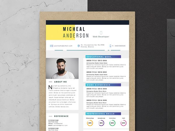 Free Elegant Professional Resume template for Job Seeker