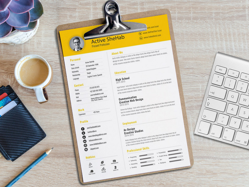 Free Creative Resume Template for Any Job Opportunity