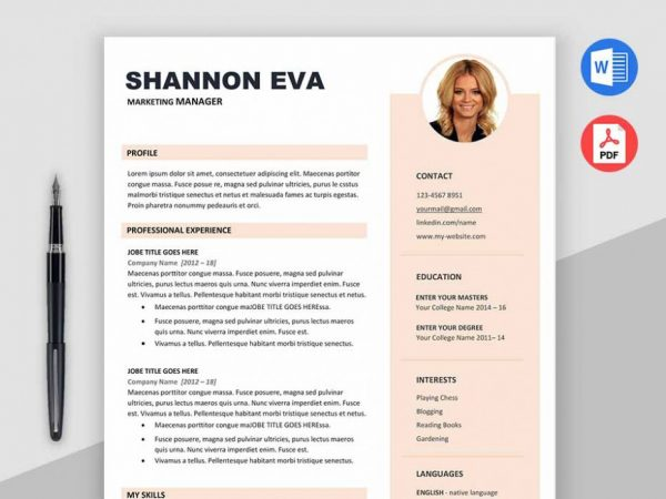 Free Marketer Resume Resume Template with Impressive Layout