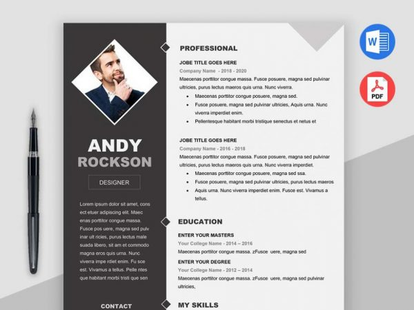 Free Modern Resume Template With Elegant and Clean Design