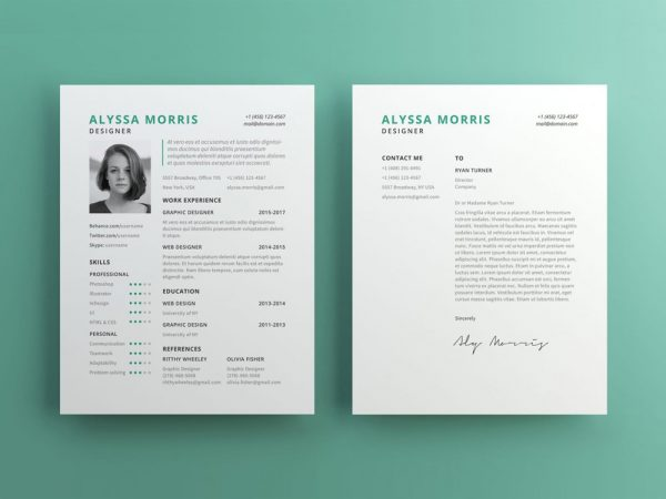 Free Clean CV Template with For Any Job Opportunity