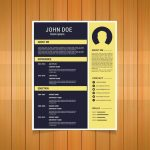 Yellow Flat Resume