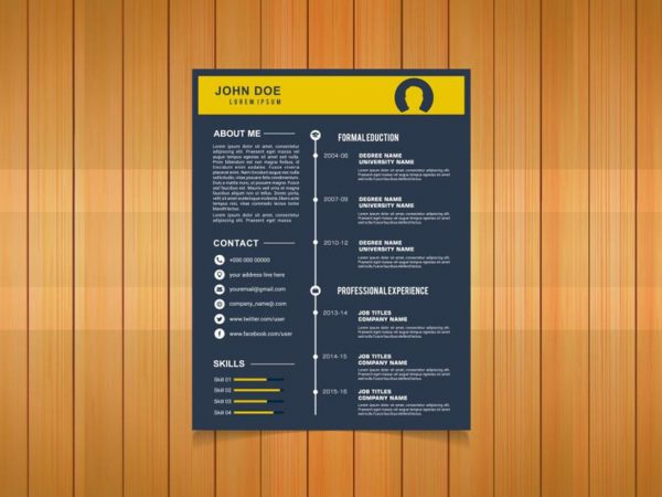 Free Timeline Resume Template for Any Job Seeker