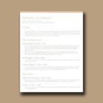 Crafty Resume Template