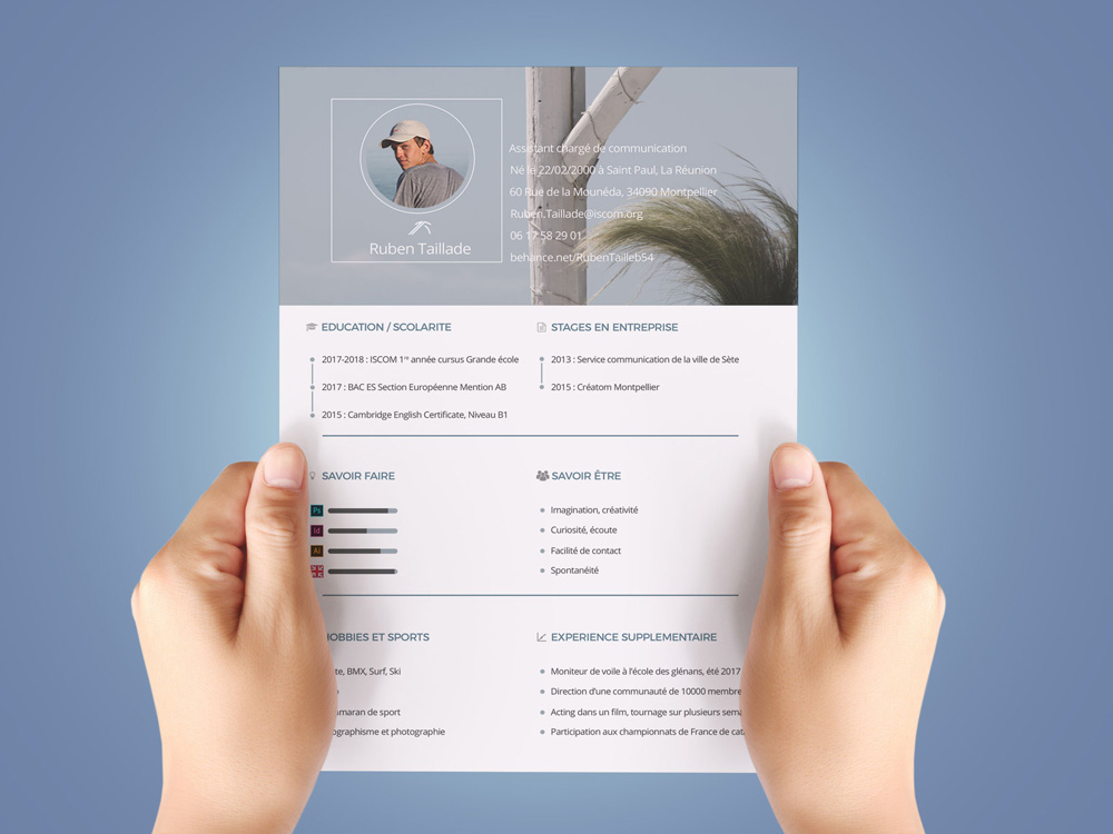 Free Personal Resume Template in PSD File Format