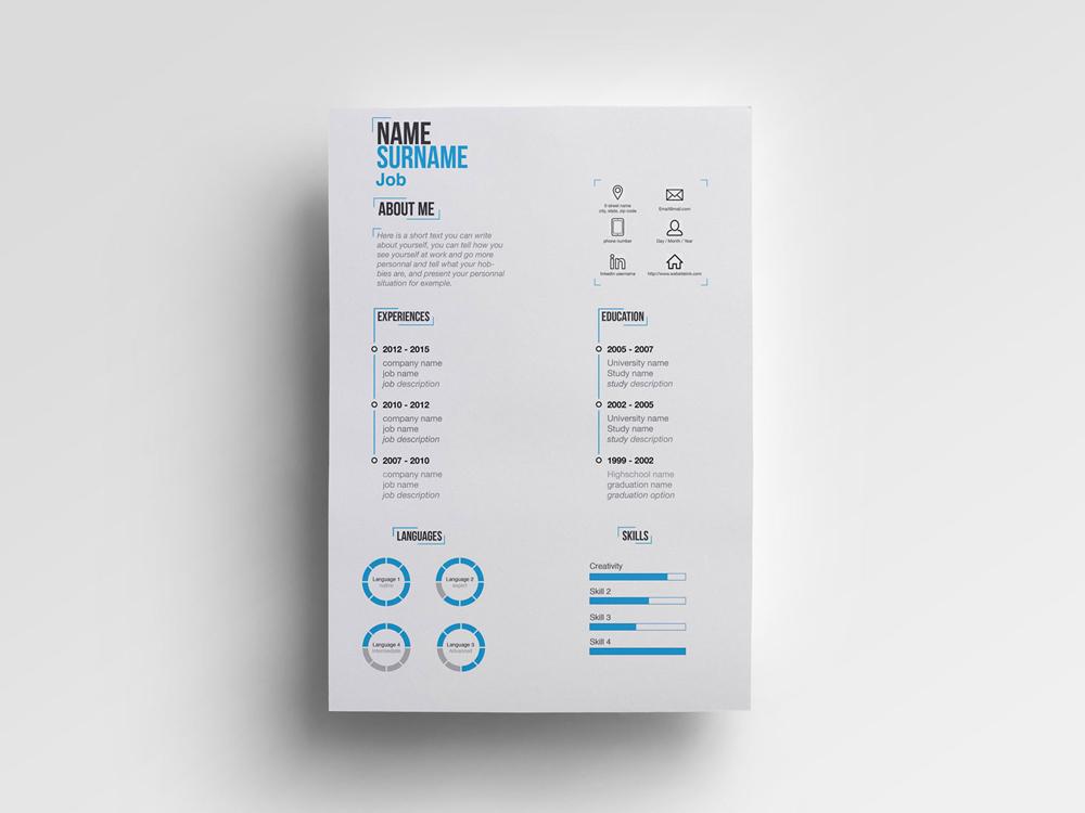 Minimal Ai Free Minimalist Resume Template In Illustrator Format