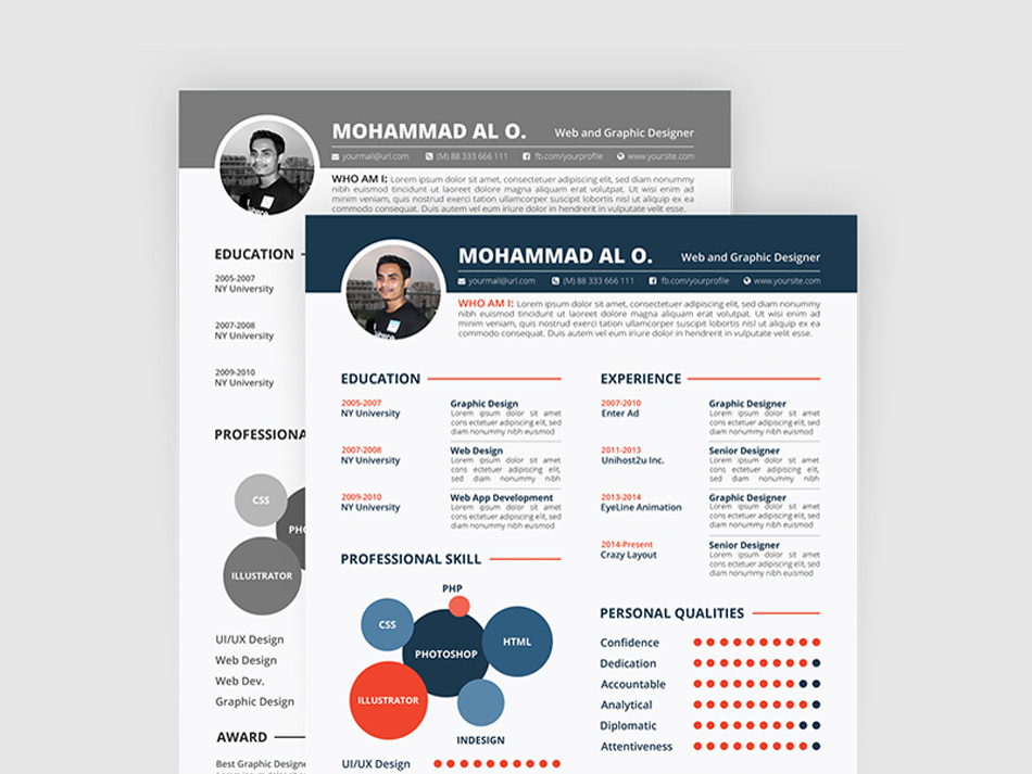 Free Resume, Portfolio U0026 Cover Letter Template For Any Opportunity. This  Template Come With 3 Pages And Two Color Versions (black U0026 White And Color)  For ...