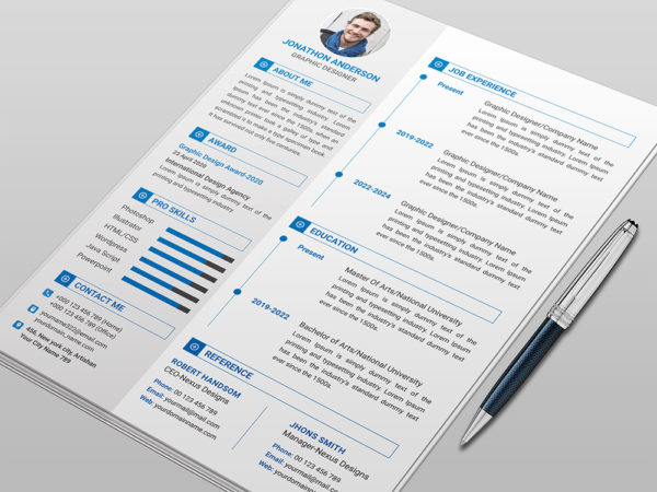 Free Clean Resume Template With Elegant Style
