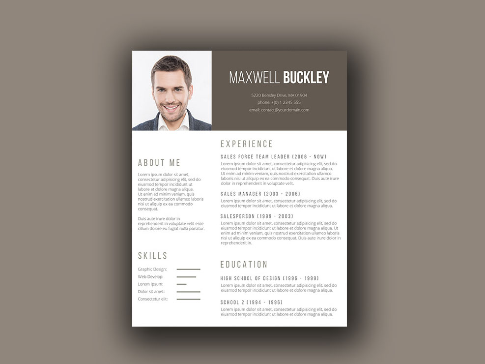 Buckley Resume - Free Unique Resume Template with Modern Design