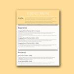 Buff Yellow Resume