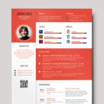 Colorful Material Resume