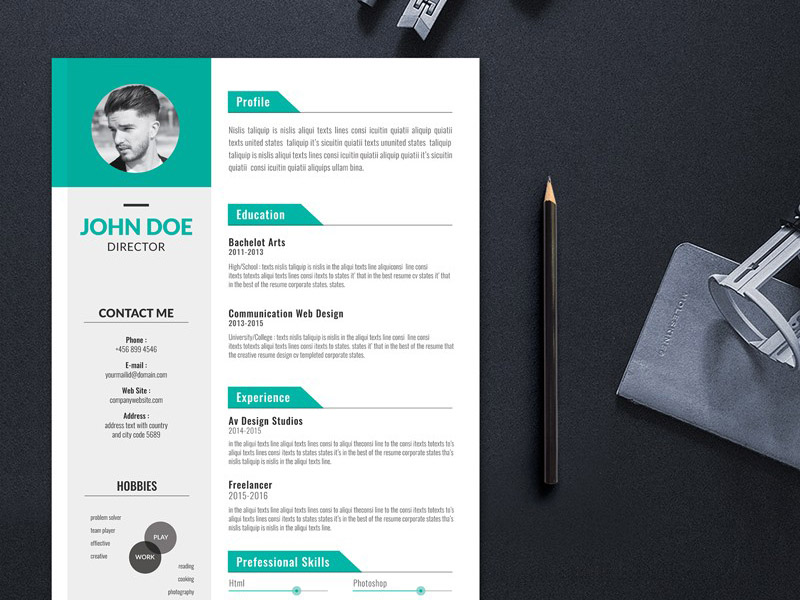 Free Creative Editable Resume