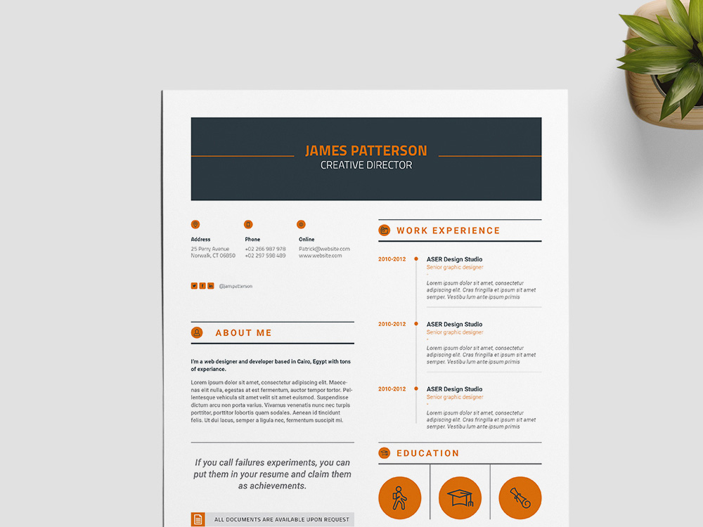 here is a free creative indesign resume template for best impression you can use this template for present your professional profile with clean and elegant