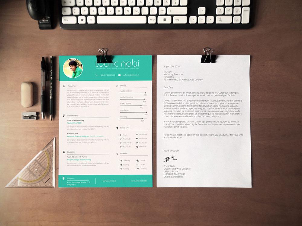 Free Designer Resumecv Template In Psd Format - Graphic-designer-resume-template