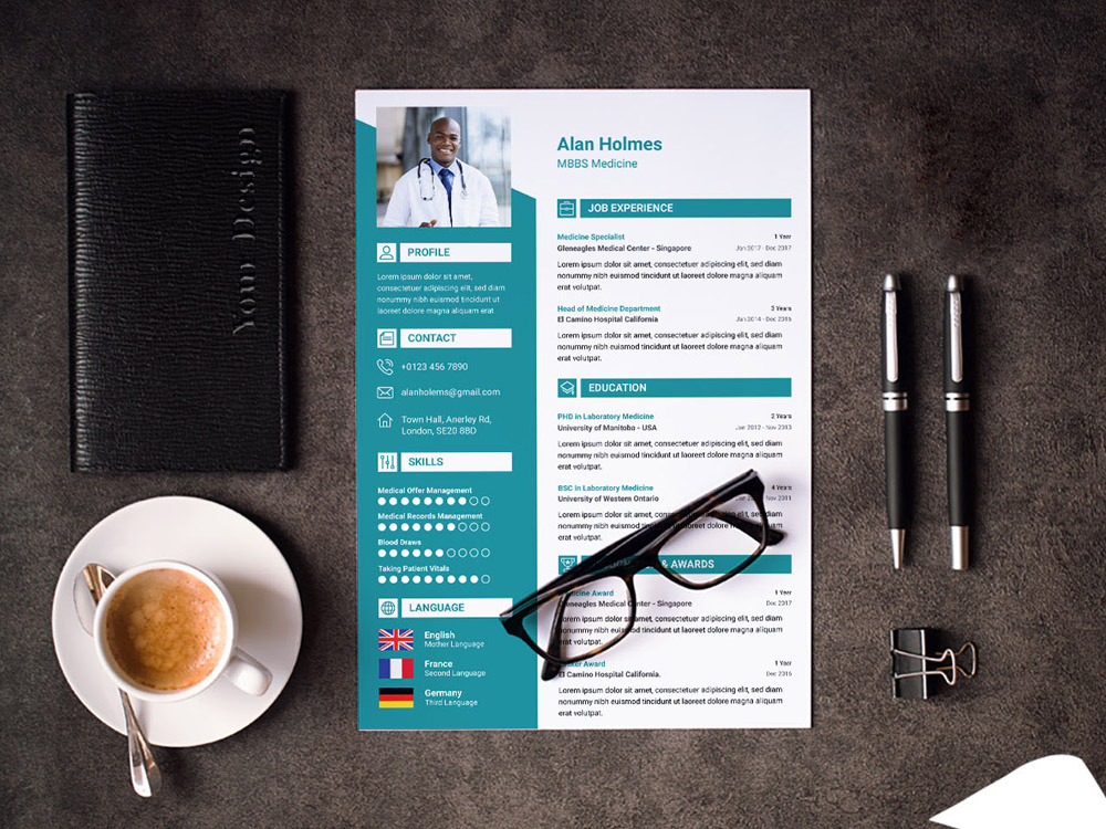 doctor resume template smashresume