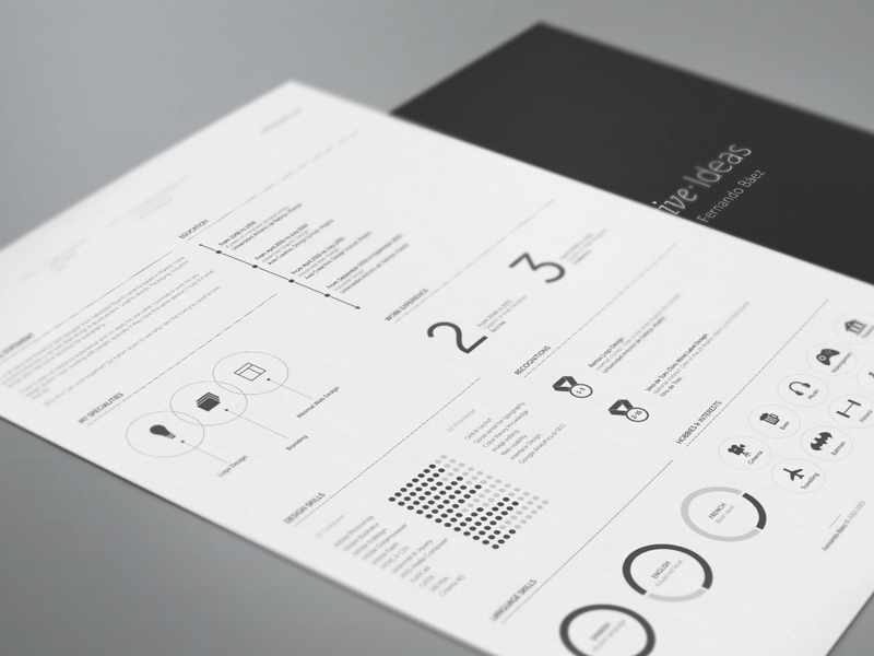 Free Elegant Double Grid Resume Template with Minimal Design