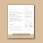 Gold Elegant Resume
