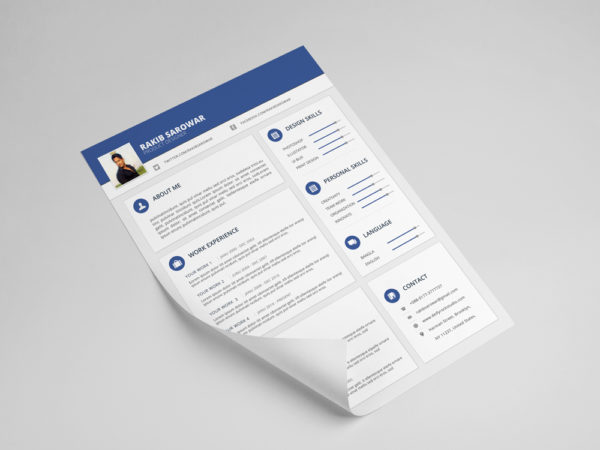 Free Material Style CV Template for Job Seeker