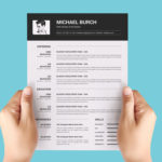 Minimal Black and White Resume