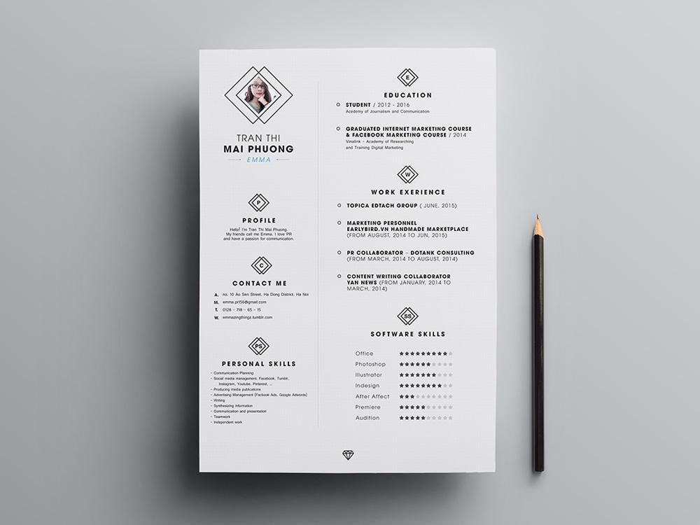 minimal elegant resume