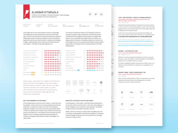 Free Minimal Engineer Resume Template in Illustrator Format