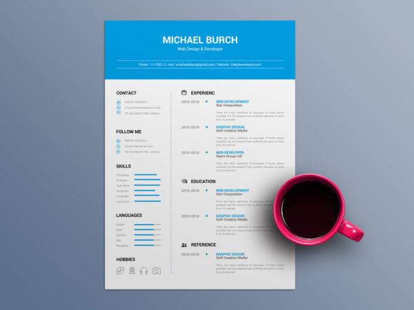 Free Minimal CV Template in Word File Format