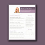 Minimalist Purple Resume