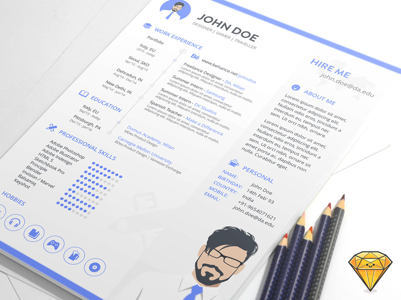 Free Minimalist Sketch Resume Template For Job Seeker.This Template Has A  Clean And Minimal Design That Every Employer Can Appreciate.