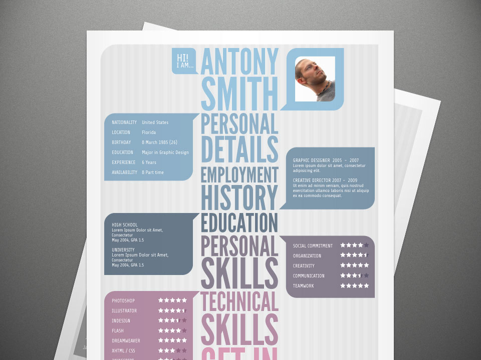 modern stylish resume free stylish resume template with visual impact