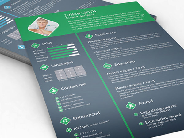 Free Professional Resume Template with Cover Letter