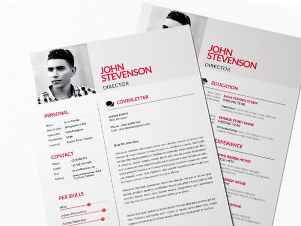 Free Red Style Resume Template